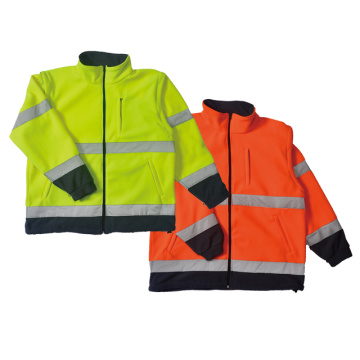 100% Polyester  fleece safety jacket