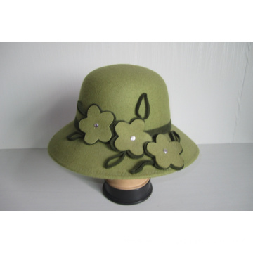 Women's Wool Felt Church Hats--YJ76