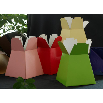 Colorful paper  bouquet vase