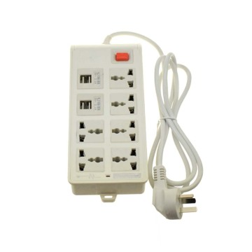 Universal 4 usb 6 outlets Extension Socket