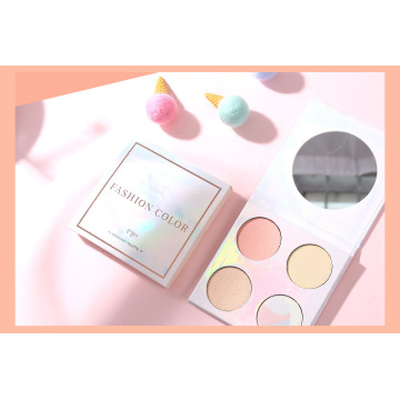 Marble four-color highlight eye shadow tray