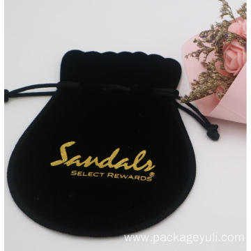 velvet cosmetic pouch bag drawstring pen bag