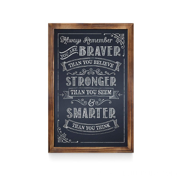Wood board blackboard chalk rustic breakfast chalkboard