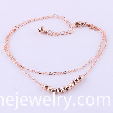 Street Fashion Two Layer Anklet Bracelet