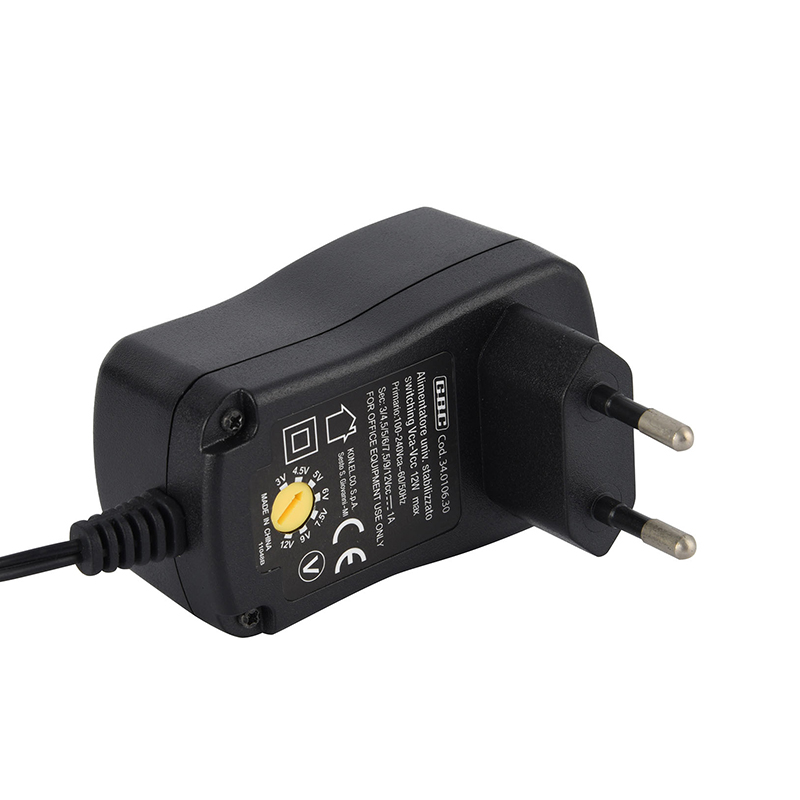 Power Supply Adapter With 6 Detachable Tips Adjustable Voltage For Home Camera Router Alarm Appliances