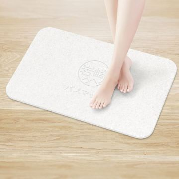 Japanese design non slip diatomite bathroom floor mat