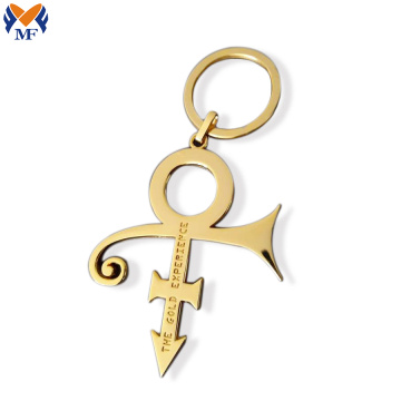 Metal Custom Gold Cross Keychain