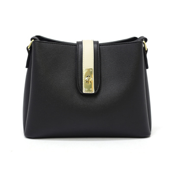 Small Black Leather Sling Shoulder Bags Womens