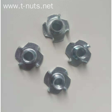 Flange face four prong  tee nuts