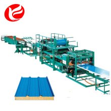Roll forming machine for roof tile sandwich panel