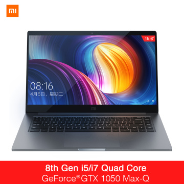 Xaomi Mi Notebook Pro 15.6 Inch GTX 1050 Max-Q Intel Core i7 16G/i5 8G CPU NVIDIA 4GB GDDR5 Laptop Fingerprint Windows 10