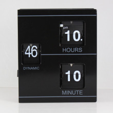 Stand-up Book Flip Desk Clock