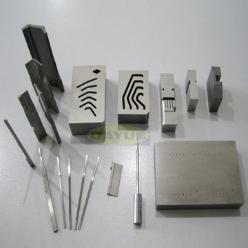 Mold components machining - contour grinding forming punch