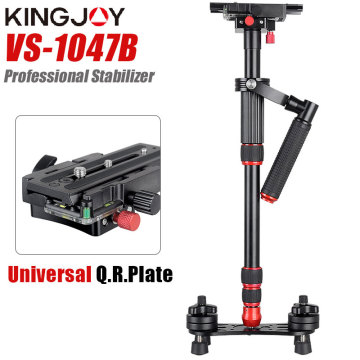 KONGJOY VS1047B 124cm Aluminum Alloy Handheld Video Stabilizer For Steadycam Steadicam For Canon Nikon Sony DSLR Camera