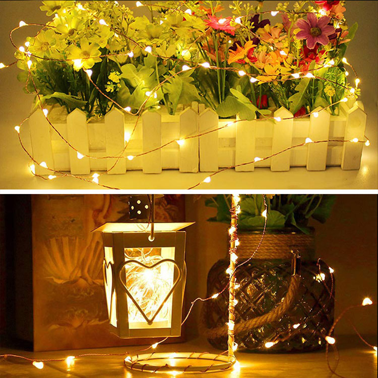led copper wire string light