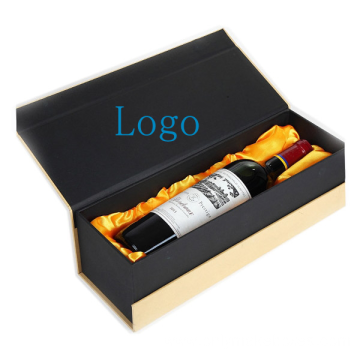 Custom Paper Wine Gift Box Packaging With Satin