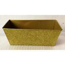 Golden square flower bucket