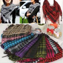 Plaid Women Scarf With Tassel Arab Women Palestine Scarf Shawl Wrap Scarves Fashion Party Favors Gifts for Women Friend
