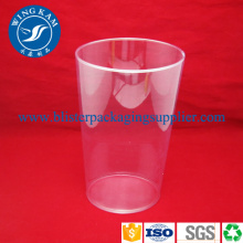 Plastic Transparant Tube Container with Logos Printing