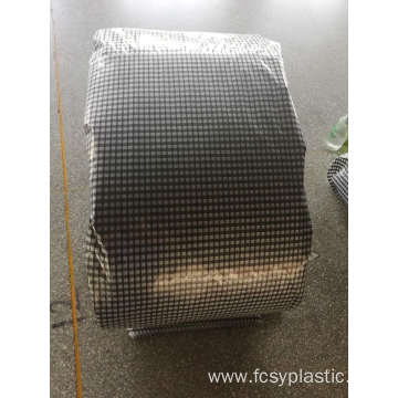 agricultural black grid transparent woven film