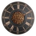 18 Inches Wooden  Rustic Gear Wall Clock
