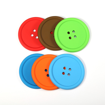 Comfortable new design silicone pvc rubber coasters