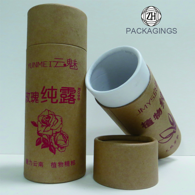 Cosmetic round boxes paper tube cosmetic tube