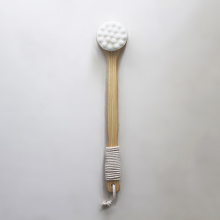 Long Handle Wood Soft Bristle Bath Brush