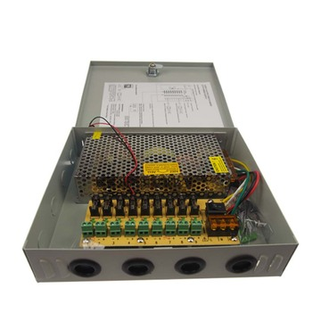 12v 10a 9 channel cctv power supply box