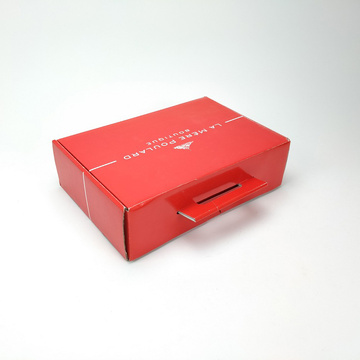 Red Colour mailing shipping packaging box with handle