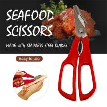 Stainless Steel Scissors New Lobster Fish Shrimp Crab Seafood Scissors Shears Snip Shells Kitchen Tool Slimme Keukentang