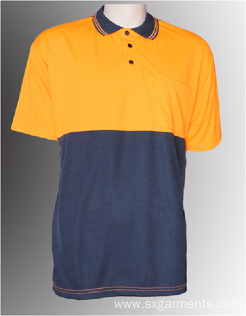 Men's safety polo shirt short sleeve
