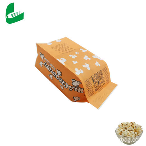 Kraft greaseproof paper microwavable popcorn bag