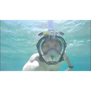 GoPro Compatible Snorkel Mask- Panoramic Full Face Design