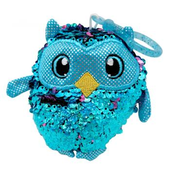 BLUE OWL SEQUIN KEY CHAIN-0