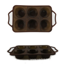 6 Cavity Silicone Cake Molds