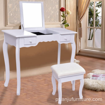 Mirrored makeup dresser wooden dresser