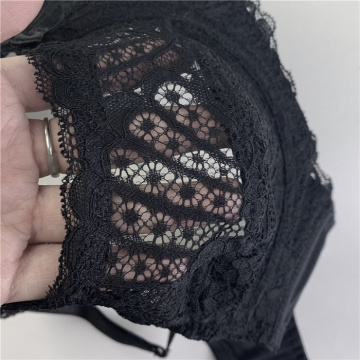In-stock plus size scallop lace underwire bra