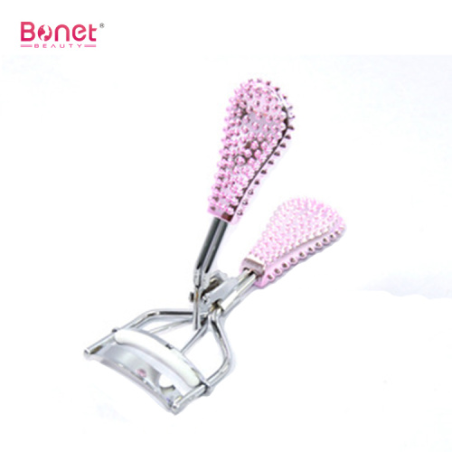 Rhinestone shinny handle eye curling eyelash curler