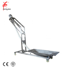 Fine powders augers transport flexible screw conveyor