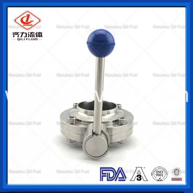 Sanitary Stainless Steel Butterfly Valve 32
