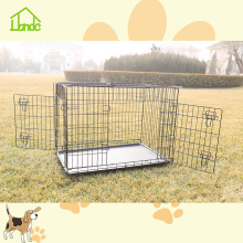 Metal folding indoor cheap dog crates and cages
