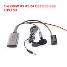Car Bluetooth Aux Auxiliary Line Adapter For BMW X3 X5 Z4 E83 E85 E86 E39 E53