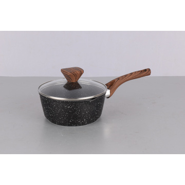 best cooking pots mini wooden handle forged aluminium sauce pan