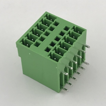 bent double layer male plug-in PCB terminal block