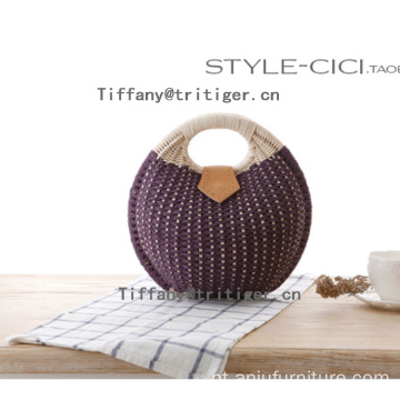 2017 round rattan bag straw rattan basket eco-friendly beach bag
