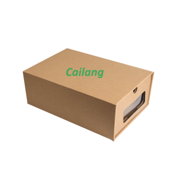 Custom Printed Brown Kraft Paper Shoe Packaging Boxes