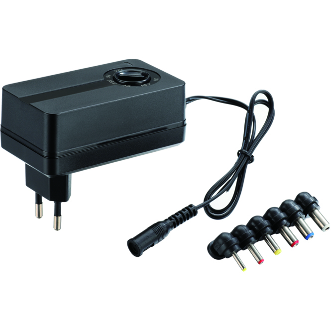 Multi Voltage 7.5V 9V 12V DC Power Adapter