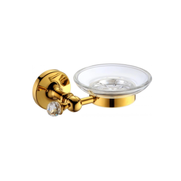Brass soap dish used in hotel bathrooms