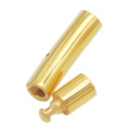 Gold plated stainless steel tube bracelet clasp